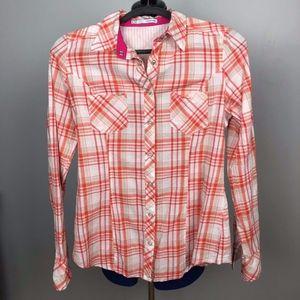 Maurices Womens Shirt Button Down Plaid